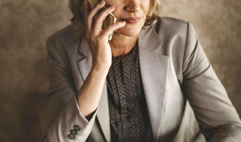 Employer making phone call